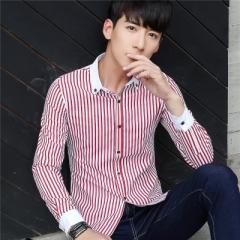 British Style Long Sleeve Casual Black Plaid Shirt Brand Men Blouse 2017 Autumn Shirt black l