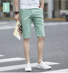 Clothing Summer Style Men Casual Cotton Short Pant Outside Trousers green 28