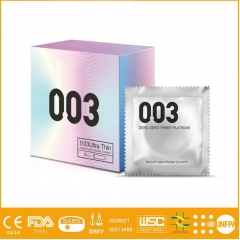 Sex Products Natural Rubber Latex trust condom male condom models 0.03 Ultra thin(3 PCS) Silver condom