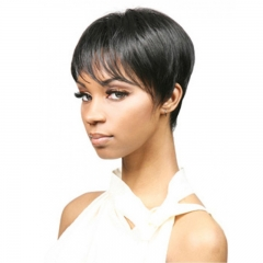 Sexy Ladies Short Straight Hair Women's Wigs Cosplay Party DV67z3-WIG-M19-298 as picture one size