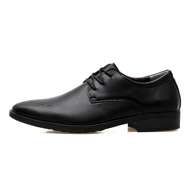 7cdba4b234f New Italian Fashion Design Men Luxury Faux Leather Pattern Round Toe Lace-ups  Shoes black