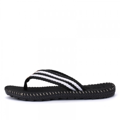 Summer Style Men Casual Non-slip Flip Flops Sport Beach Flat Slippers Wearproof Shoes Size 39-45 black 42