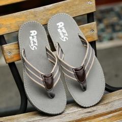 Casual women mens flip flop summer fashion ladies slippers solid color sport beach unisex sandals grey 41