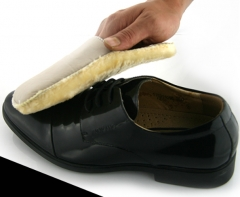 Soft Wool Polishing Shoes Clean Cleaning Gloves Shoe Care Brush Home beige 18.5*12cm