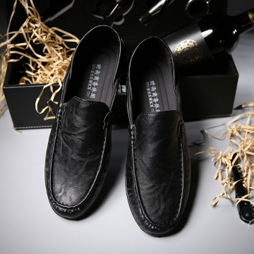 Artificial  Shoes Men Flats Soft Breathable Mesh Men Loafers Slip on Classical Moccasins Non-Slip black 44
