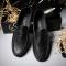 Artificial  Shoes Men Flats Soft Breathable Mesh Men Loafers Slip on Classical Moccasins Non-Slip black 44