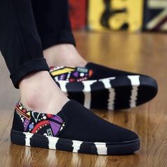 Mens Shoes,Canvas Mens Fashion Shoes,Men's Casual Shoes Hip hop shoes black 42