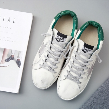 Fashion Designer Casual Shoe 2016 New Women Black Star Low Cut Lace Up Comfortable Shoe green 41