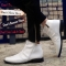 Brand Fashion Men Boots, High Quality Men Ankle Boots, Popular Men Autumn Shoes white 42