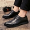 Men Casual Luxury Brand Flats Genuine Leather Black Formal Dress Wedding Brogues Wingtip Shoes black 39