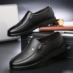 Luxury Brand Men Shoes High Quality Business Derby Shoes Men Wedding Shoes Men Dress black 42