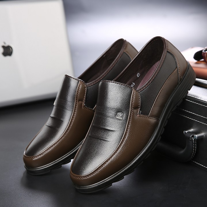 Luxury Brand Men Shoes High Quality Business Derby Shoes Men Wedding Shoes Men Dress brown 41