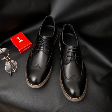 45421572eae8 Men Dress Shoes Brogue Black Business Wedding Shoes Flats Round Toe Shoes  Handsome High Quality black 43   Kilimall Kenya