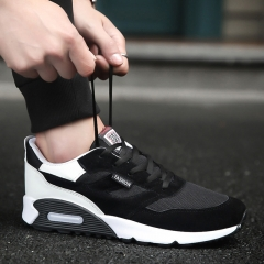 2017 Mens Running Shoes Breathable Male Outdoor Walking Sport Shoes New Man Athletic Sport Sneakers black 44