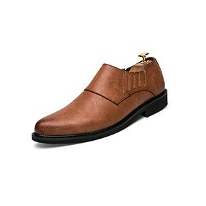 2017 Mens Formal Dress Brogue Shoes Luxury Brand Pointed Toe Leather Oxfords Casual Wingtip Shoes brown 41