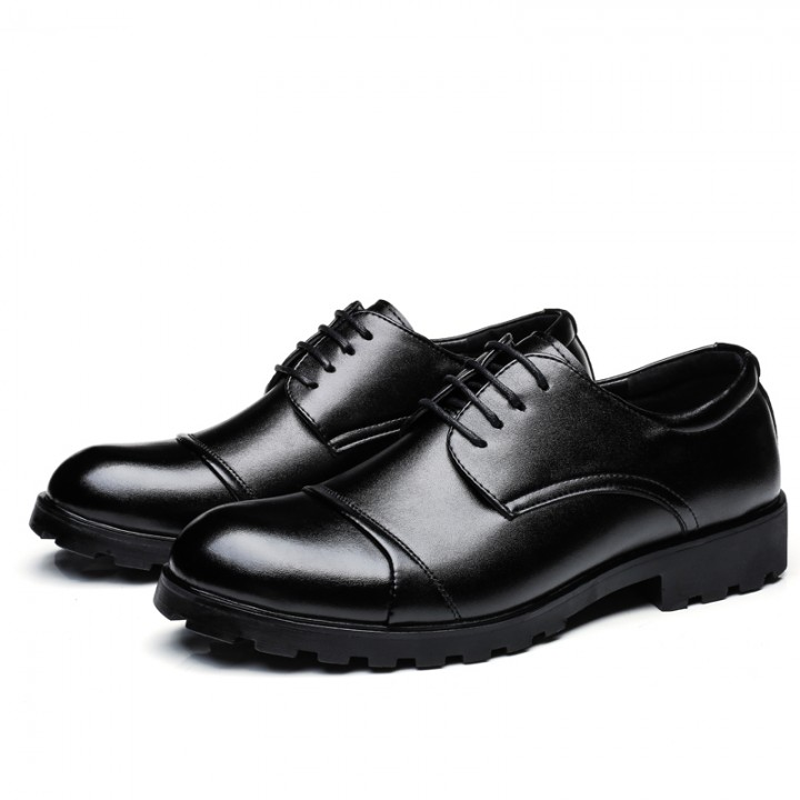 2017 Elegant Men Business Shoes Men Wedding Shoes Mens Formal Derby Dress Formal Meeting Shoes black 42