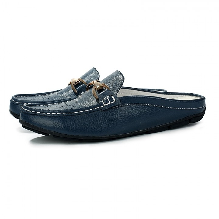 Men Casual Shoes Summer Breathable Casual Shoes Size Slip On Soft Men's Loafers Outdoors blue 44