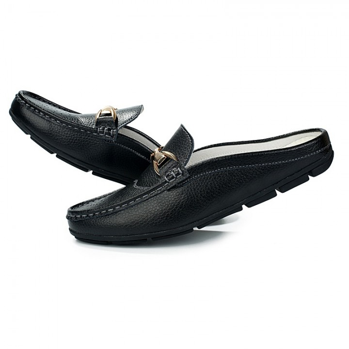 Men Casual Shoes Summer Breathable Casual Shoes Size Slip On Soft Men's Loafers Outdoors black 42