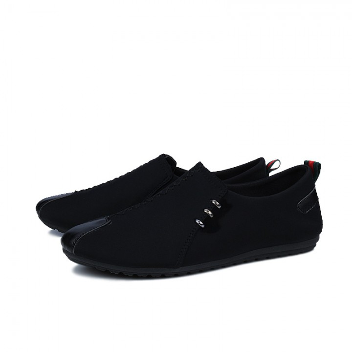 Autumn Spring Men's Casual Shoes Moccasins Men Loafers Summer Fashion Male Boat Shoes black 42