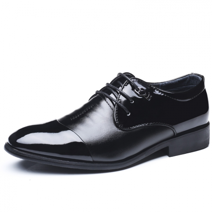 Patent Leather Mens Dress Shoes Business Work Pointed Toe Mens Formal Shoes black 44