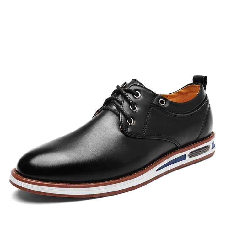 New Spring Fashion Oxford Business Men Shoes Soft Casual Breathable Men's Flats black 43