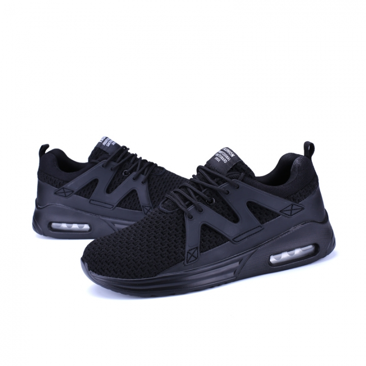 Men's 2017 Cushion Running Shoes Breathable Big Size Sneakers Light Sports Shoes black 42
