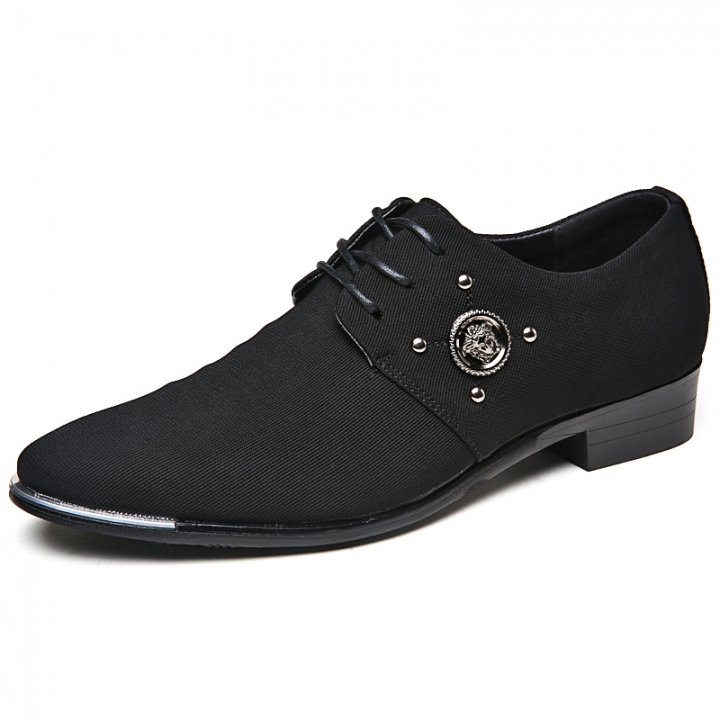 2017 Italian Style Men Oxfords Shoes Leather Pointed Toe Dress Business Formal Shoes black 42