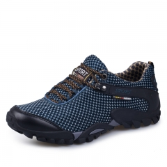 Hiking Shoes Men Outdoor Climbing Sports Trekking Shoes  Breathable Mesh blue 45
