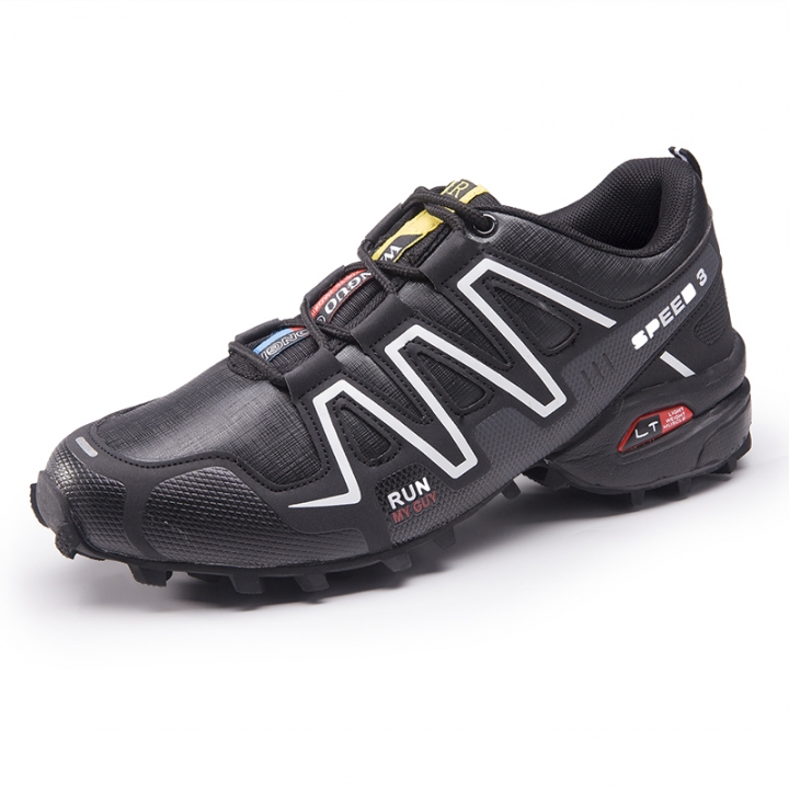 Waterproof Mens Hiking Shoes Outdoor Trekking Camping Shoes Moutain Non-Slip Men's Hiking Sneakers black 41