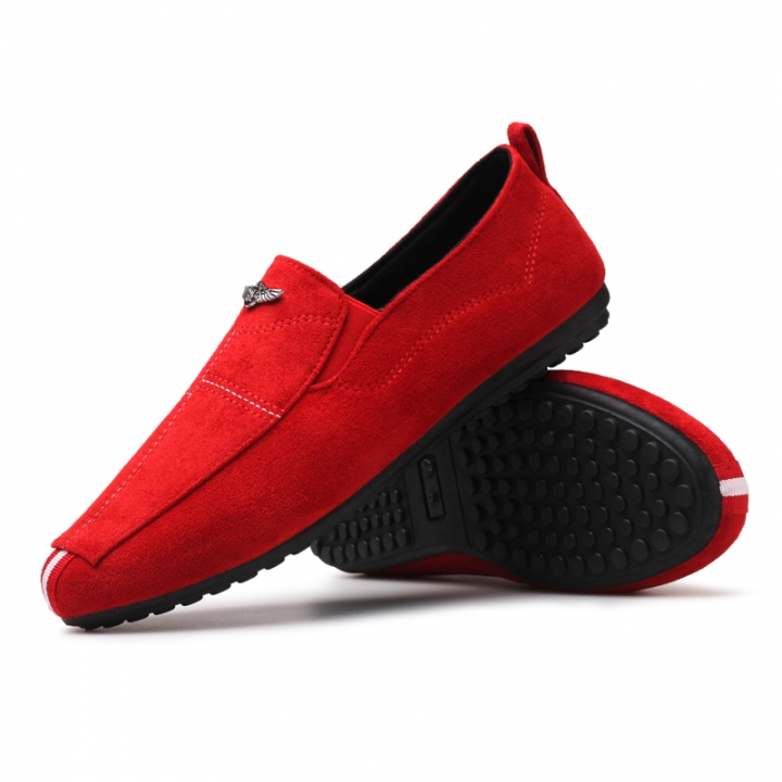 Men Shoes 2017 NEW Loafers Summer Cool Autumn Flats Shoes Low Man Casual red 41