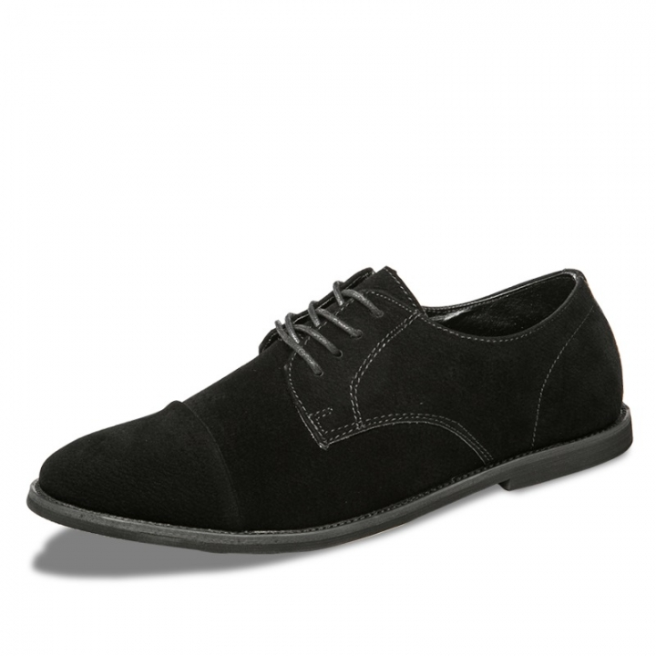 Winter Retro Vintage Men Casual Shoes Italian Man Flats Shoes Warm Suede Leather Lace-Up Moccasins black 41