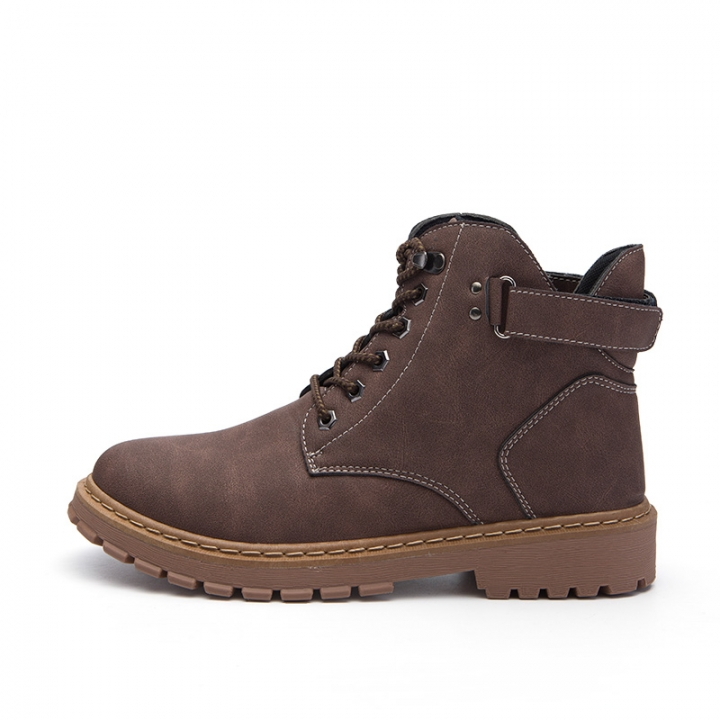 Keep Warm Men Winter Army Boots High Top Men Work & Safety Resisting Boots Waterproof Lace-up Male brown 39