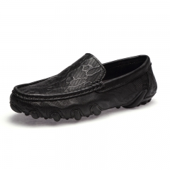 Men Loafers Summer Cool Autumn Winter Men's Flats Shoes Low Man Casual Shoes Classical Moccasins black 39