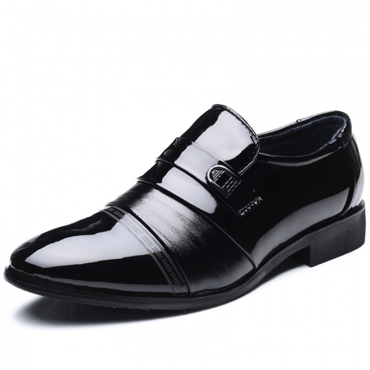Leather Black Mens Dress Shoes Oxford Shoes For Men Slip On Office Business Men Shoes black 43