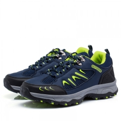 Outdoor Men Trekking Shoes Hiking Sneakers Sport Shoes Breathable Climbing Man Mountain Boots blue 39
