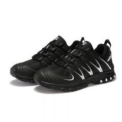 Big Size Men Hiking Sneakers Low-cut Sport Shoes Breathable Mountain Shoes Men Athletic Outdoor black 39