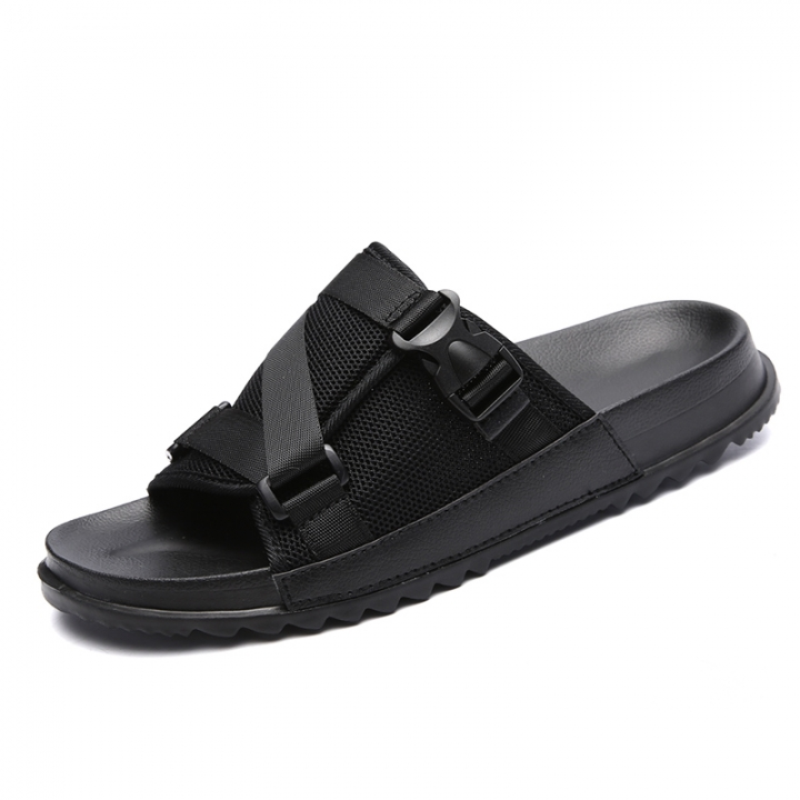 2018 Big Size 45 46 Casual Slippers Men Summer Breathable Cool Beach Sandals Man Outdoor Shoes black 38