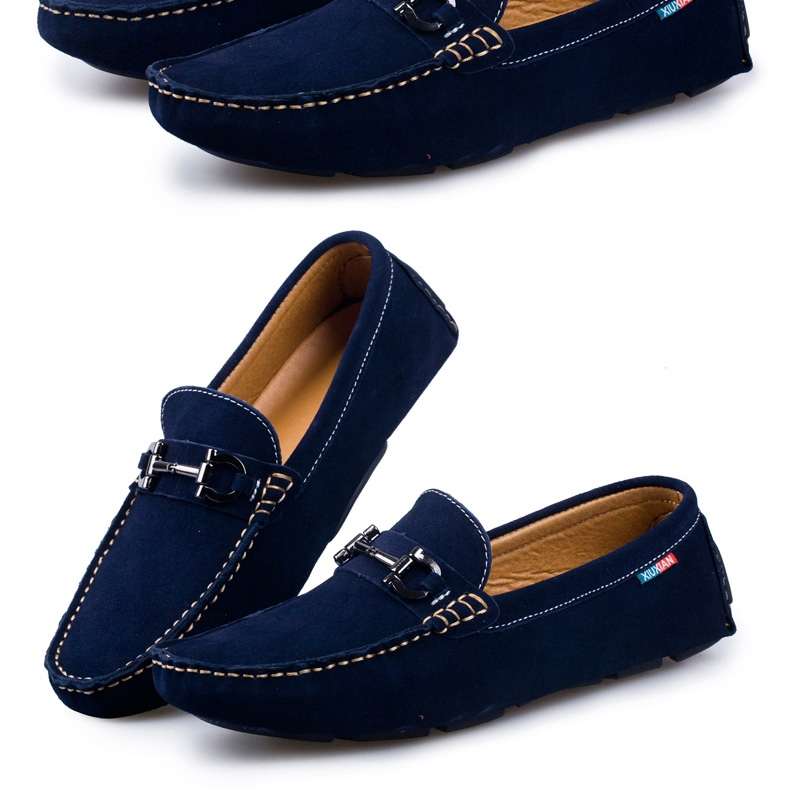 2018 Swag Horsebit Loafers Suede Male Urban Men Driving ...