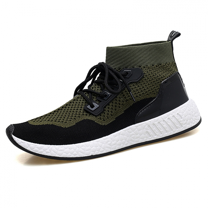 0157133059 2018 Men Shoes Casual High Top Skate Shoes Mens Trainers Tenis Man Running  Mesh Soft green