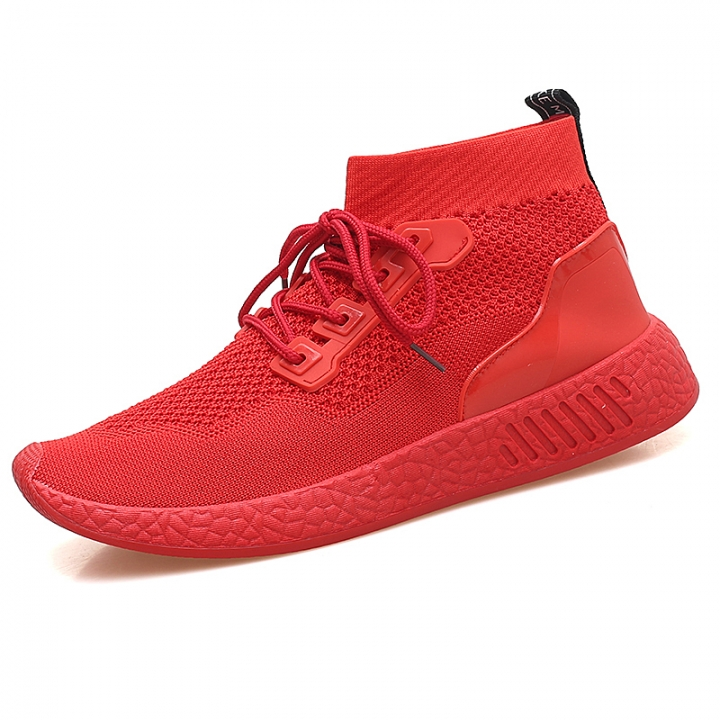 9cd2252933 2018 Men Shoes Casual High Top Skate Shoes Mens Trainers Tenis Man Running  Mesh Soft red