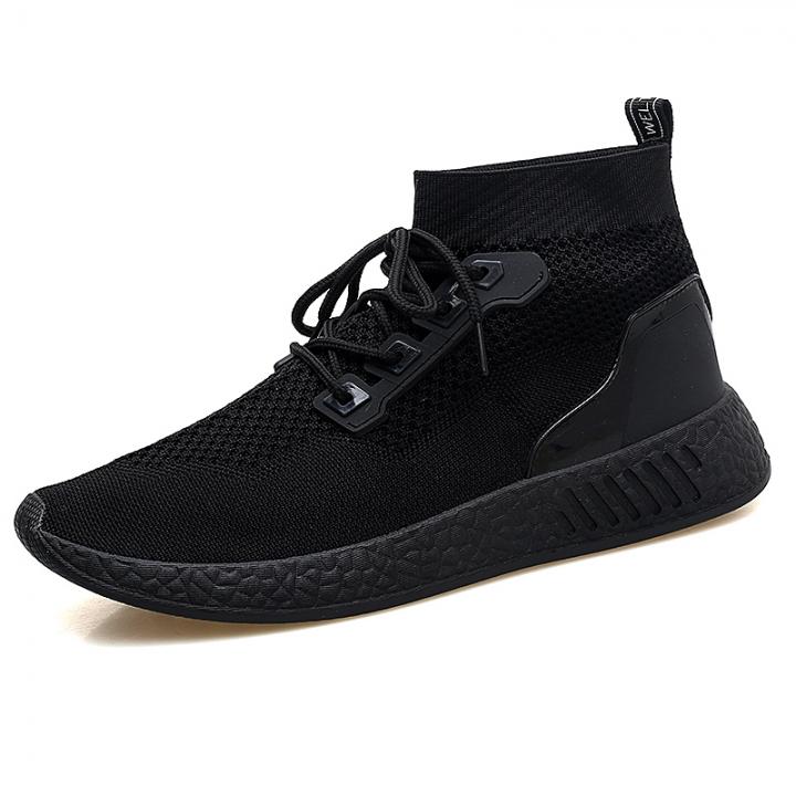 b62113ea19 2018 Men Shoes Casual High Top Skate Shoes Mens Trainers Tenis Man Running  Mesh Soft black