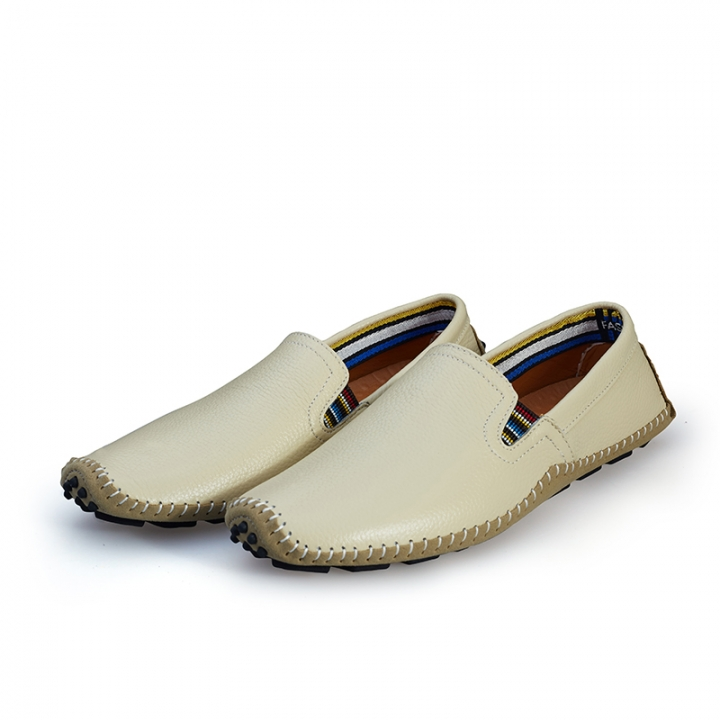Big Size 38--47 High Quality Soft Men's Natural Leather Shoes Casual Slip On Driving Loafers beige 44
