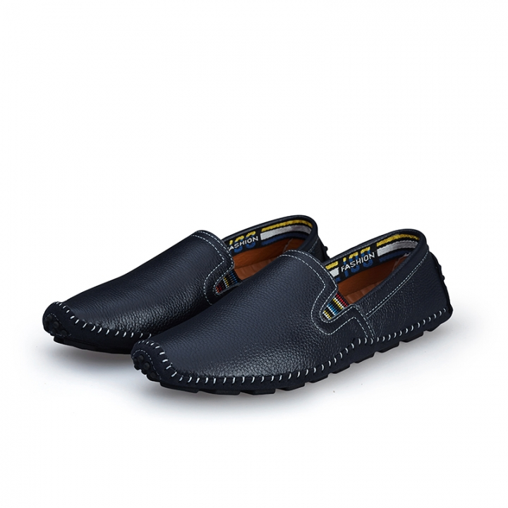 Big Size 38--47 High Quality Soft Men's Natural Leather Shoes Casual Slip On Driving Loafers blue 45