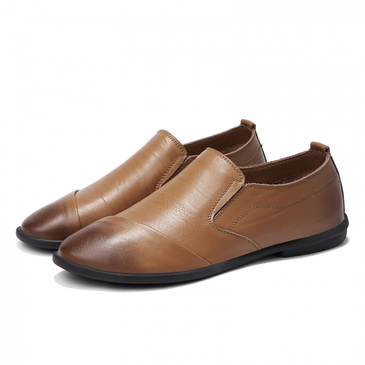 Brand Summer Men Shoes Genuine Leather Cow Driving Shoes Good Quality Soft Men Loafers Comfortable khaki 44