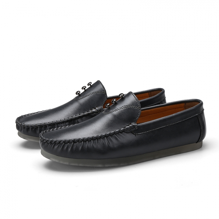 6015424995b Big Size Leather Vintage Soft Loafers For Men Slip On Moccasins Boat Flats  Shoes Leisure Shoes