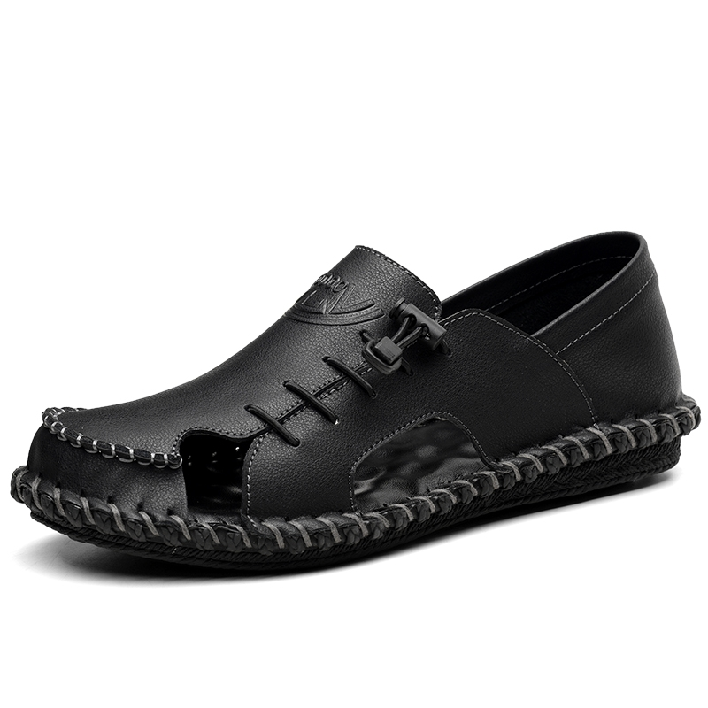 d247ee09aac Good Quality Summer Men Sandals Genuine Cow Leather Casual Shoes ...