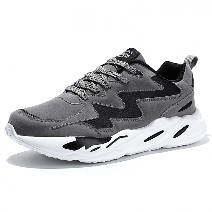 cdd380ec714 Spring Lace-up Men Sports Shoes Outdoor Height Increasing Comfortable  Running Shoes Cool grey 43