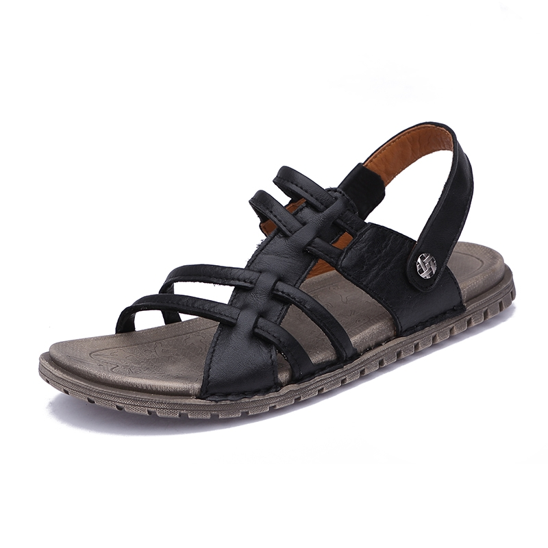 e80b09d9dfbbed Summer Men s Leather Beach Shoes Classic Open Toe Handmade Sandals Outdoor  black 38  Product No  1434673. Item specifics  Brand