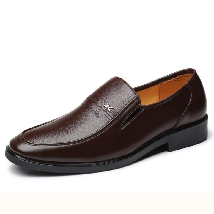Luxury Brand Men Dress Shoes Italian Design Fashion Business Oxford Shoes Formal brown 38 pu leather