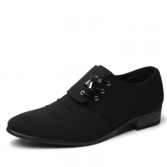 Elegant Design Handsome Men Oxford Shoes Formal Business Dress Pointed Wedding Shoes black 38 pu leather